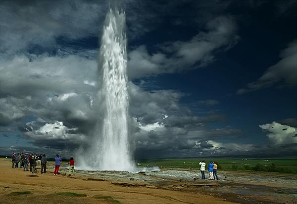 One of Iceland's geyser Strokkur