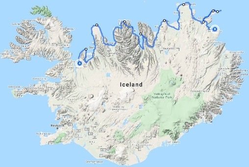 Map of the Arctic Coast Way