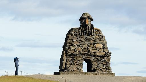 Statue of Bardur Snaefellsas at Arnarstapi