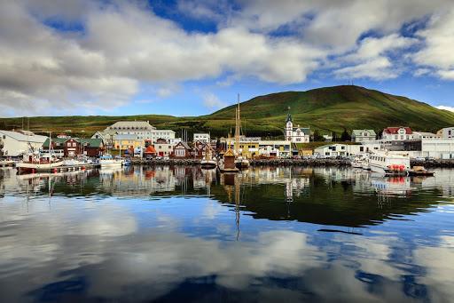 The arctic coast way includes Husavik harbor's Húsavík Natural and Maritime Museum.