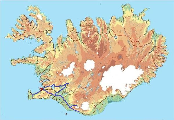 Tour package winter break in iceland 6 days 5 nights dp13 map sciox Gallery