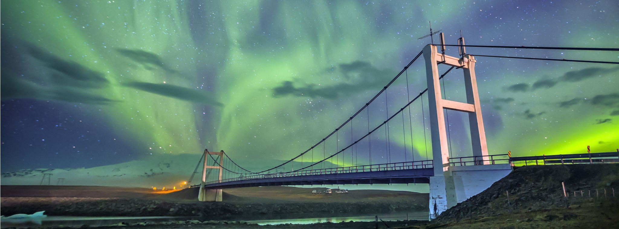 Northern lights package at Jokulsarlon